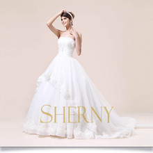 New model with high quality sexy wedding dresses buying fluffy wedding dress from china