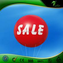 Large pvc advertising small infaltable light helium balloon