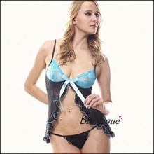 Night wear sexy underwear cheap sale girls sexy sheer lingerie