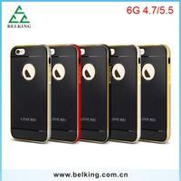 Metal Bumper + TPU Case for iphone 6 Hybrid armor Love Mei
