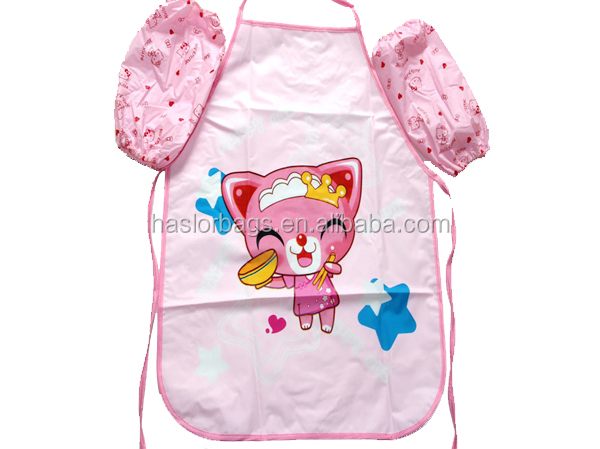 Wholesale Custon Fashion Kids Apron With Sleeves