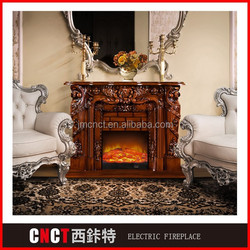 wholesale LED Top quality Pastoral style oak ethanol fireplaces for sale