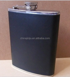 8oz Stainless Steel Hip Flask With Leather Covered Simple And Popular