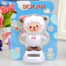cartoon dolls dance solar toy solar dancing goat toy swing solar goat magic cute flip flap solar doll car decoration factory