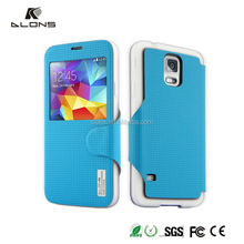 2015 New Arrival leather phone case,mobile phone leather case,s view flip case cover for samsung galaxy s4 i9500 DLONS