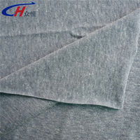 gray cotton jersey fabric wholesale 65% polyester and 35% cotton for T-shirts, sportswear, grament, underwear and so on