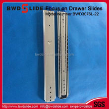 BWD3076L-22 New Arrival Push To Open System Enhanced Damper Buffer Slide For Cabinet