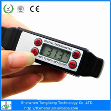 Instant read digital thermometer stainless steel for beef/pork/meat/cooking
