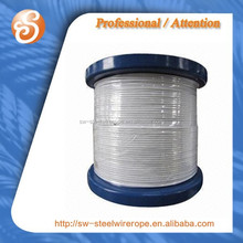 7x7 steel wire with clear nylon coated