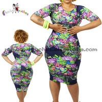 Plus Size Ice Silk Ladies Sex Latest Pattern Dresses