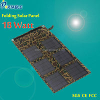 solar charger foldable panels 18W 18V to 12V battery