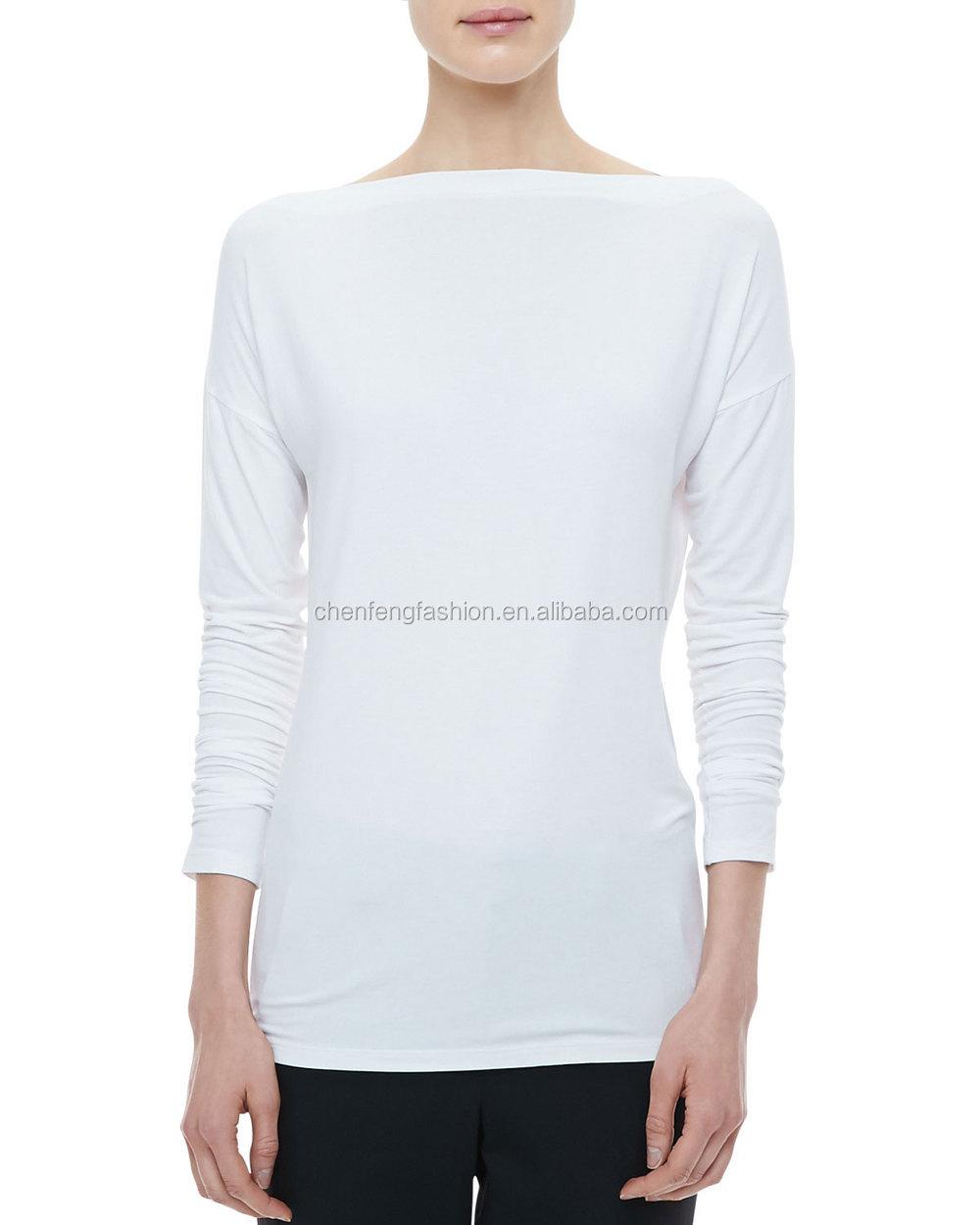 trends boat neckline shirt