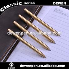 metal golden ballpoint pen, golden pen body novelty pen