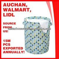 Round Printed Waterproof Foldable Laundry Basket