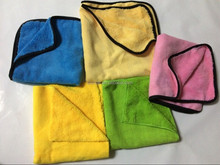 Different color edgeless dual pile microfiber cloth