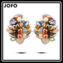 Colorful Bead Handmade Ear Stud Hot Sale Crystal Stud Earring