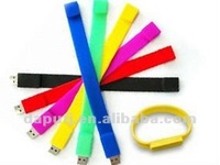 colorful wrist usb stick silicon bracelet with logo