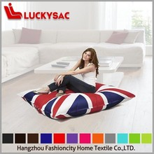 Adult National Flag Style the Square Chair Bean Bag Without Filling