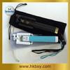 drawstring selfie stick velvet pouch, velvet bag for mini self-pole