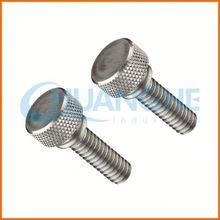 Alibaba Chinese supplier provides high accuracy 8.8 high grade brass screw /knurled thumb screw