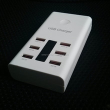 2015 News Promotion Electric 6 port usb charger For office use