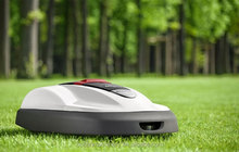 Portable robot grass cutting machine