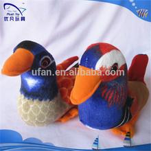 Fábrica derechos de autor diseño venta al por mayor y de encargo de peluche amor pato mandarín chino las aves de peluche