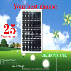 Factory direct sale 130W Mono Solar Panel in China with high quality