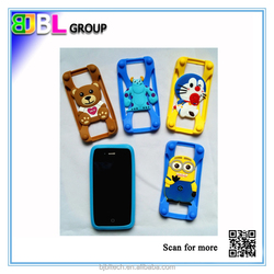 Fluorescent universal cellphone bumper silicone case for promotional gifts