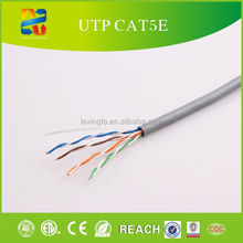 ROHS, ISO, ETL, REACH Approve Factory, 24AWG Cat 5e 350MHz UTP Ethernet Bare Copper Network Cable