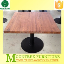 Moontree MDT-1147 restaurant outdoor furniture metal base teak wood dining table