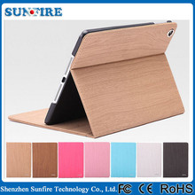 Wood Grain Flip Leather Case for iPad air, for ipad wood case, wood for ipad case