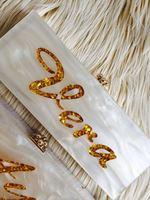 Fashion Handmade Bling Acrylic Clutch Custom Name Clutch Evening Bags Nice Fashion Acrylic Box Clutch