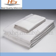 High Quality White Plain Hotel Used Bed Sheet