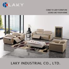 Italian leather 1+2+3 electric recliner sofa set