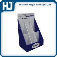 Easy To Assemble Cardboard Counter Display Stand Box With Divider
