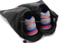 Black Cotton Drawstring Shoes Bags