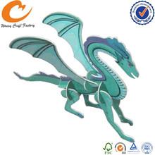 Dragon Plastic Puzzle Card DIY Card Animal 3d puzzle card
