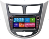 7 inch 2 din car dvd player for Hyundai Verna 2011- with GPS BT TV tuner AM/FM IPOD DVR 1080P