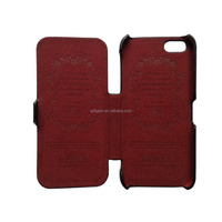 good quality colorful microfiber flip leather case for iphone 5 5s 5c