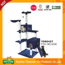 Apartamento de gatos con mobiliario para árbol, con poste para rascar, casa de animales-YS77308
