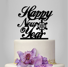 Happy New Year 2016 Cake Topper Acrylic Holiday Cake Topper
