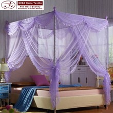 Factory wholesale abibaba purple princess mosquito net bed canopy