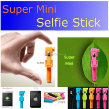 Pen Size 2015 Bright Color Mini Handheld Selfie Stick Wired Remote Holder Phone Monopod