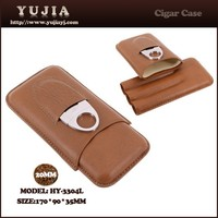 High-end Multi-function leather cigar case with cutter cigar cutter and case