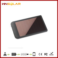Universal 2600mah emergency solar panel power bank charger for smartphone tablet pc Laptop