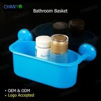 wholesale plastic bathroom suction cups basket /holders/shelf