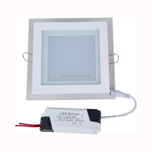 china supplier LED Light 12w high brightness led panel glass light with changing color