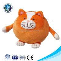 Fashion new orange plush cat ball toy customized cute stuffed soft long leg cat of plush toy