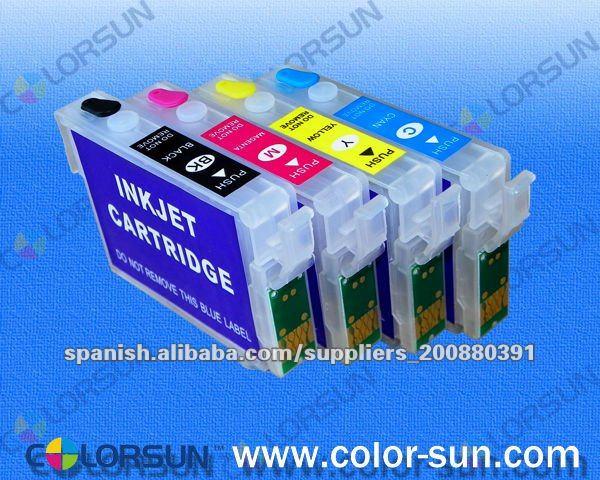 Cartuchos rellenables (recargable) con chip autoreseteables Epson TX235/TX230/TX430W/NX420/TX420W/Workforce320/Workforce325